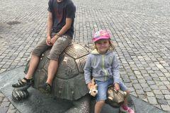 Na želvě