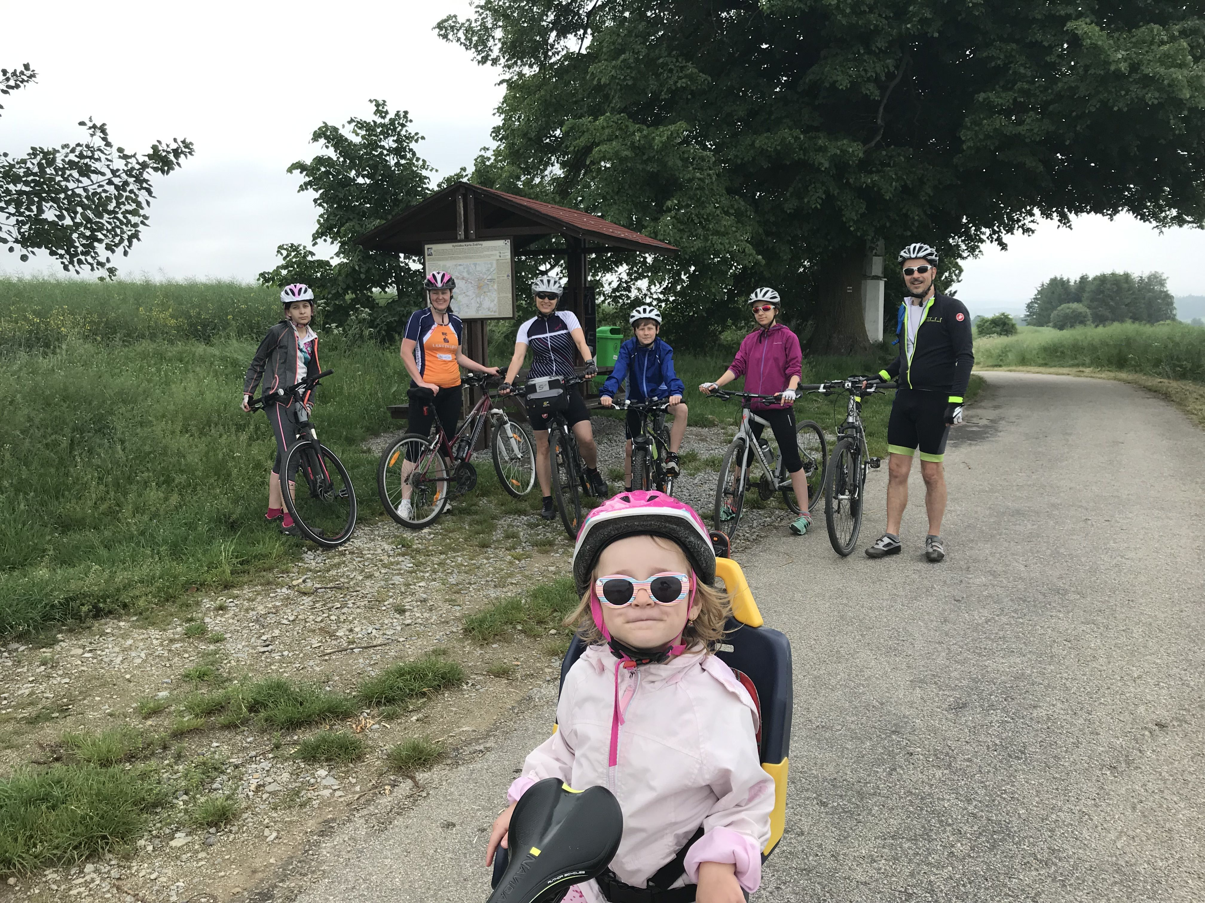Účastníci cyklovýletu