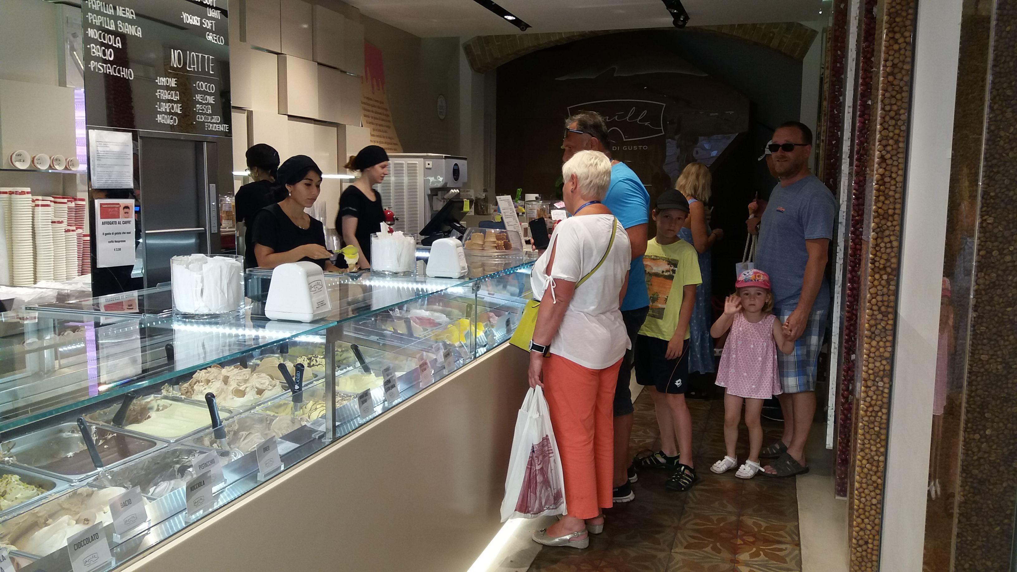 Zmrzlina v Ravenně