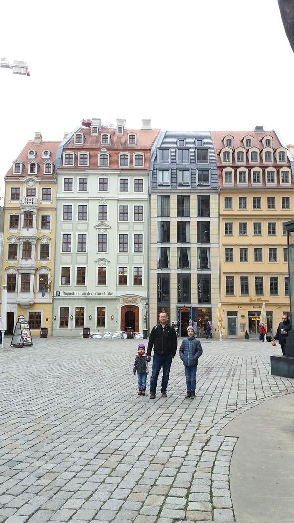Drážďany - náměstí u Frauenkirche